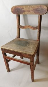 Carpenters painted pine chair