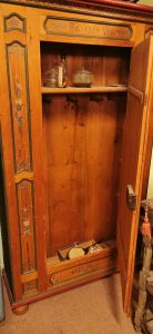 Pine hand painted cupboard