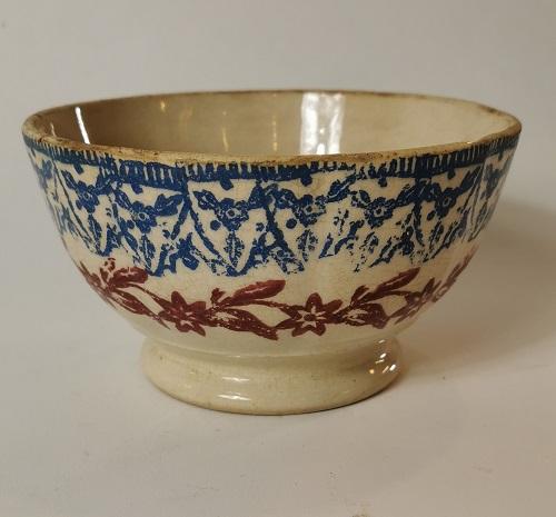 Spongeware porridge bowl