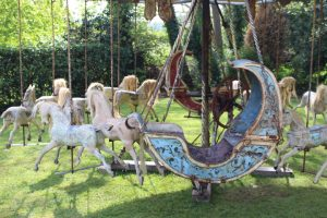19th C. hand operated carousel boats