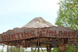 19th C. hand operated carousel canopy
