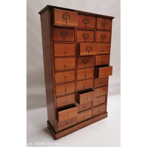 Early 20th. C. bank of twenty five drawers