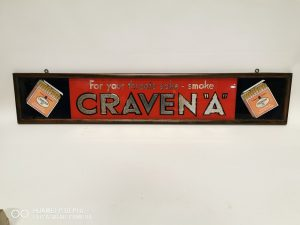 Craven A Cigarette Advertising Sign Victor Mee Auctions Ireland