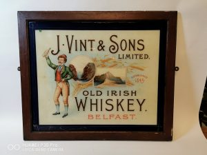 Vint Irish Whiskey Advertisement Victor Mee Auctions Ireland