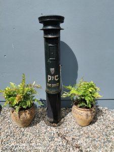 Cast iron Irish pillar post box