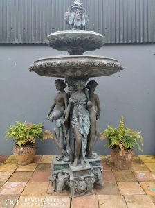 Exceptional quality bronze two tier fountain