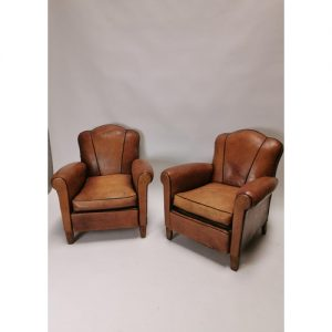 Leather Club Chairs - Victor Mee Auctions