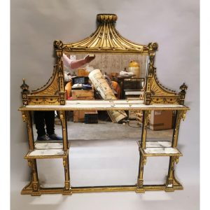 Giltwood and Gesso Overmantle