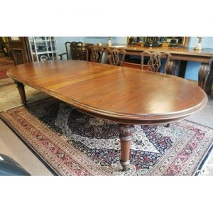 Mahogany D Ended Dining Table